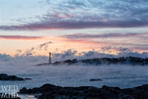 sea smoke the red glow of dawn marblehead ma