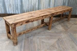 vintage wooden benches vintage wooden bench worn farmhouse bench antiques atlas