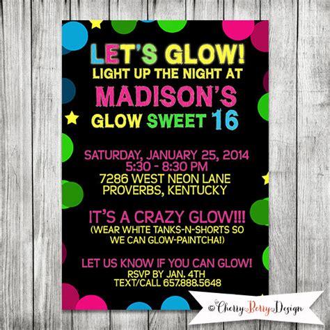 neon blacklight sweet 16 birthday party 5x7 jpg sweet