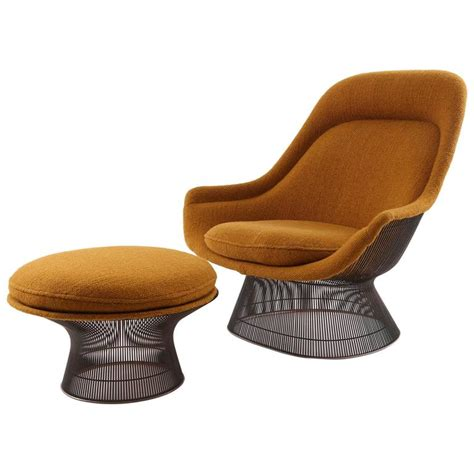 Platner Chair by Warren Platner For Knoll Bronze Throne Chair And Ottoman