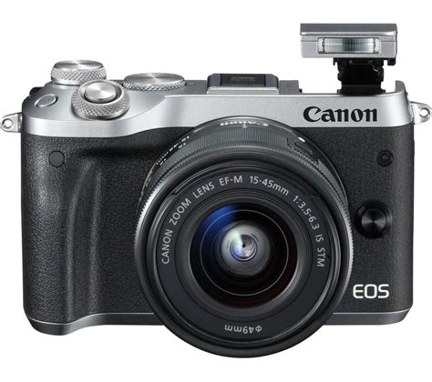 Canon Eos M6 Only Canon M6 Eos M6 canon eos m6 mirrorless with 15 45 mm f 3 5 6 3 lens silver deals pc world