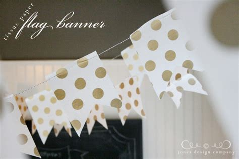 how to make a tissue paper flag banner tutorial jones
