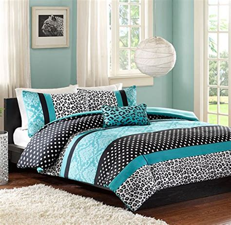 black and aqua bedding teen girls bedding damask leopard comforter twin twin xl