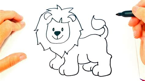 imagenes de un leon faciles para dibujar how to draw a lion for kids lion drawing lesson step by