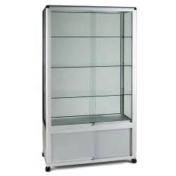 Glass Display Cabinet Tower Glass Display Cabinet Wide Tower 3 Shelves Storage