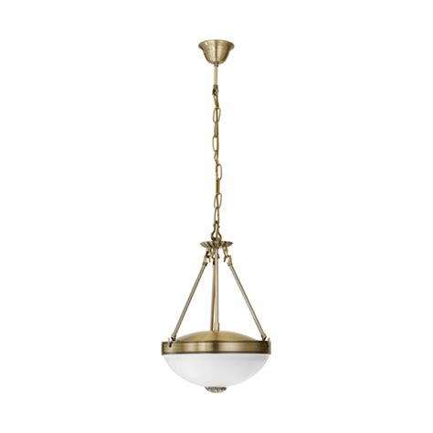 2 Light Pendant Eglo Lighting Savoy 2 Light Ceiling Pendant In Bronze Finish With Frosted Glass Shade Lighting