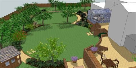 landscape layout sketchup garden design plan by sally bishton sketchup by gaynor