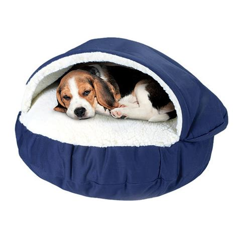 covered dog beds luxury cozy cave covered dog bed brookstone