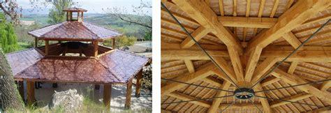 pali per gazebo in legno gazebo in legno di castagno