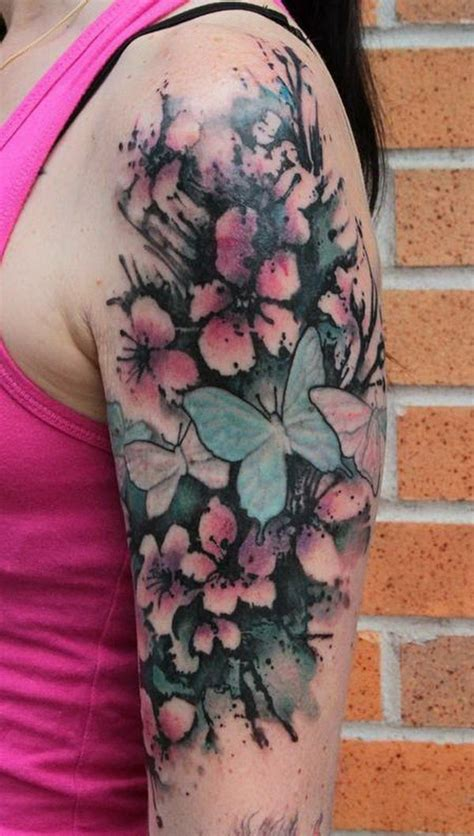 cherry blossom half sleeve tattoo designs 40 cherry blossom design ideas hative