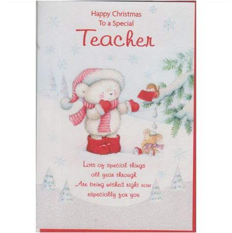 printable christmas cards for teachers christmas card for a teacher 3 5060197060008 on ebid