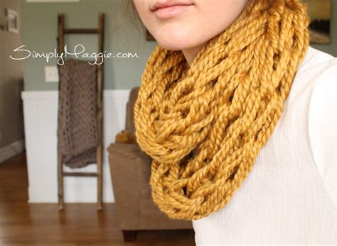 how to arm knit infinity scarf how to arm knit tutorial including