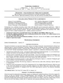 Leadership Resume Exles by Resume Sle 16 Creative Marketing Leader Resume Career Resumes