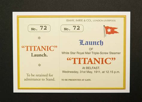 new titanic boat tickets 6 x rms titanic launch ticket postcards 6 x rms titanic