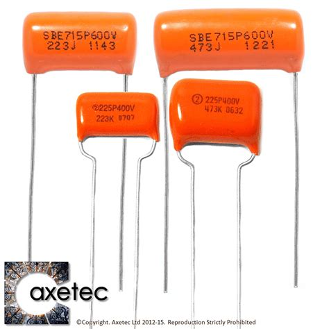 capacitor values for humbuckers guitar spares from axetec tone capacitors