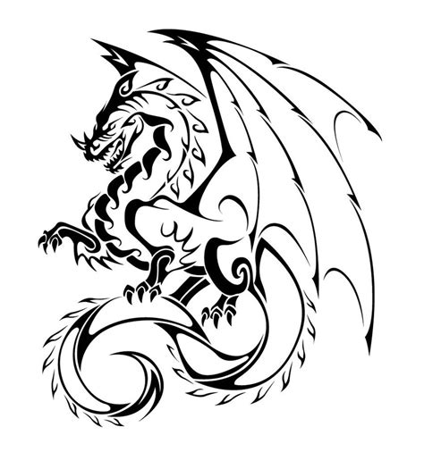 dragon tattoo vector free dragon tattoo vector by thiagobreis on deviantart