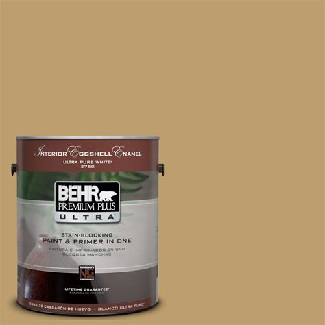 behr premium plus ultra 1 gal ul180 24 ground cumin interior eggshell enamel paint 275301