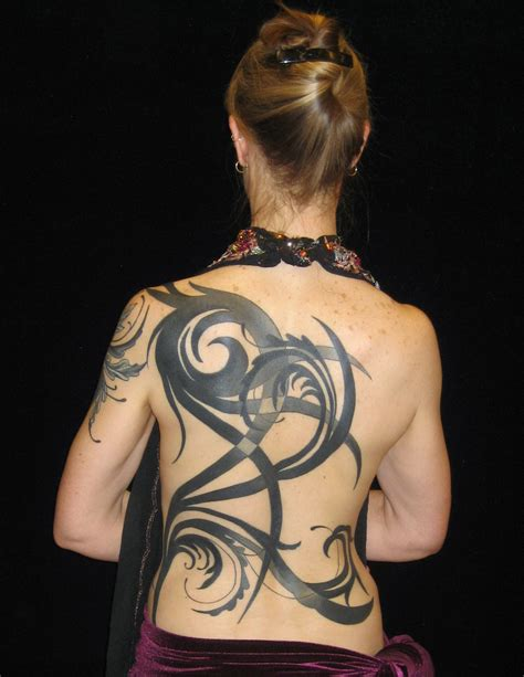 one piece tribal tattoo abstract tribal back piece by madamelazonga on deviantart