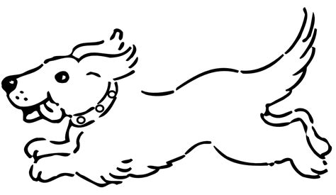 black and white coloring pages of dogs clipartist net 187 clip 187 happy running black white