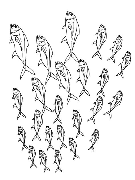 free coloring pages of baby fish