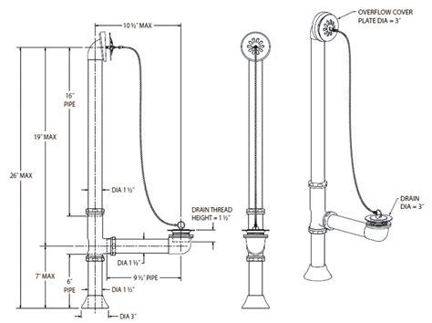 how to plumb a bathtub drain victorian shower accessories bathtub accessories