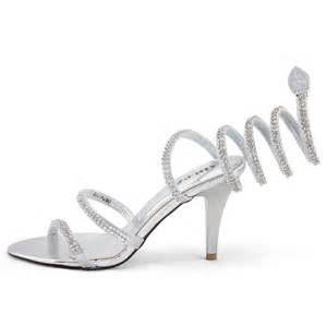 shoezy womens silver strappy diamante formal wedding prom