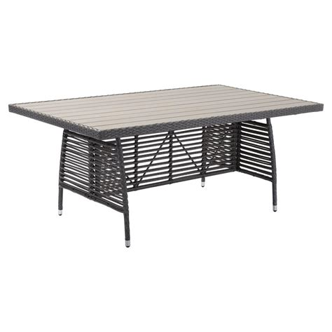 faux wood outdoor dining table modern faux wood aluminum outdoor dining table