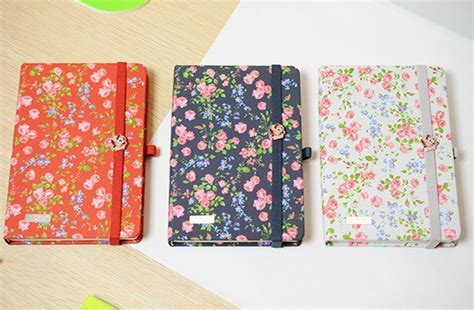 design for journal notebook 1pcs lot vintage rose floral design notebook diy flower