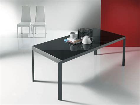 IZAC Crystal and steel table by Bontempi Casa design