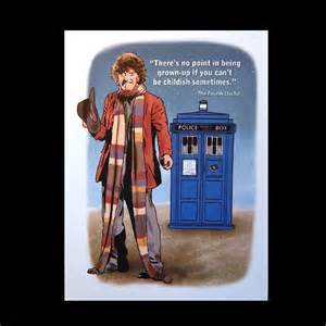 doctor who birthday card with tardis and fourth doctor