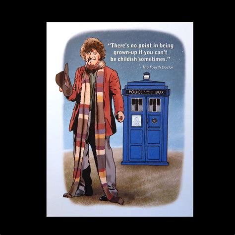 Dr Who Birthday Card Doctor Who Birthday Card With Tardis And Fourth Doctor