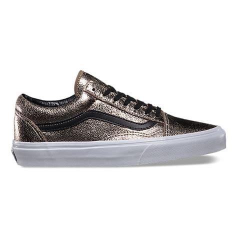 vans metallic metallic leather skool shop womens shoes at vans