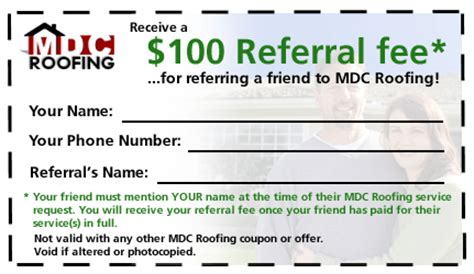 mdc roofing current specials