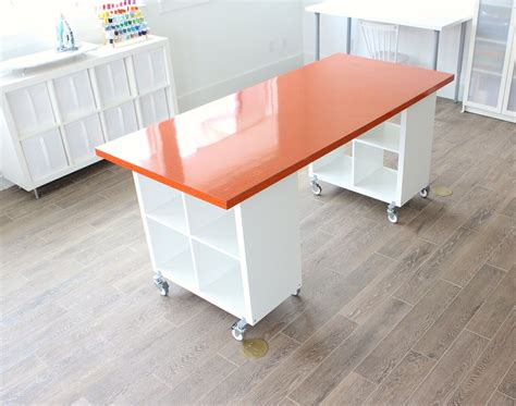 Building A New Home The Formica Craft Table Made Diy Craft Desk With Storage
