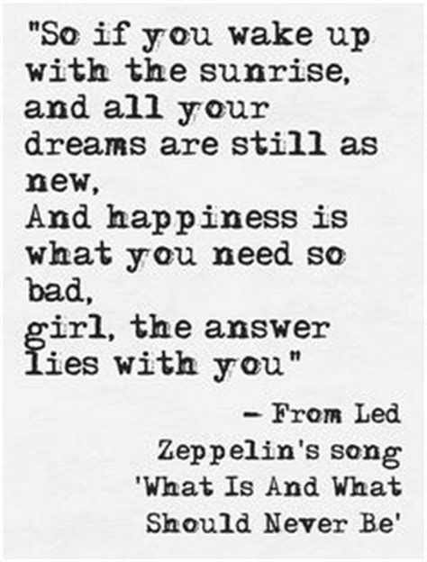 tattoo led zeppelin lyrics quot what is and what should never be quot led zeppelin
