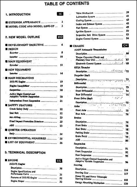 automotive service manuals 1998 lexus lx transmission control 1998 lexus lx 470 features service training manual original