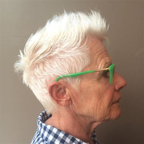 razor haircuts for older women elderly womens razor short spikey hairstyles for women