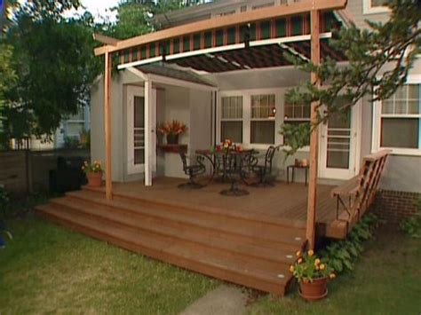 Build Deck Awning by 19 Easy Ways To Create Shade For Your Deck Or Patio Deck