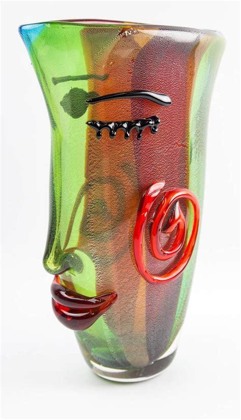 picasso paintings vase fantastic large studio murano sommerso m badioli style