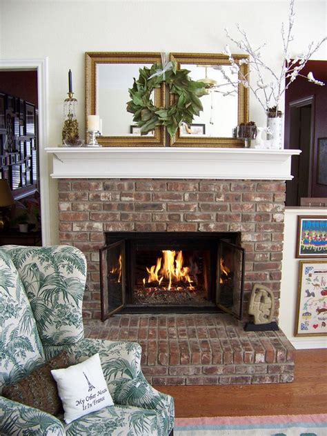 decor fireplace decorate your mantel for winter hgtv