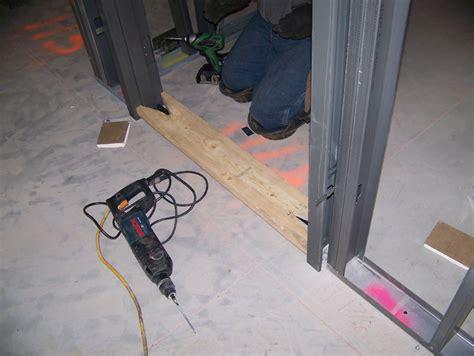 installing welded hollow metal door frames buildipedia