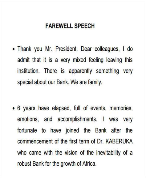 Sle Farewell Speech To work farewell speech sle best 20 farewell speech ideas