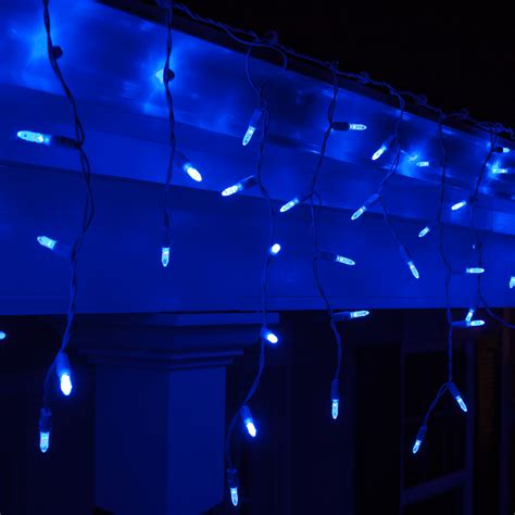 blue icicle lights led lights 70 m5 blue led icicle lights