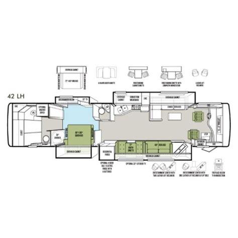 tiffin rv floor plans 2013 tiffin phaeton 42lh photos details brochure floorplan