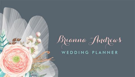 Background Of Wedding Planner by Girly Event Planning Business Cards Page 1 Girly
