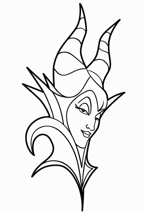 malificent coloring pages