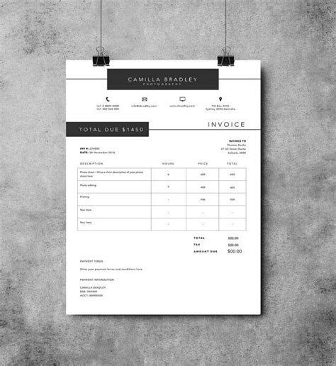 photoshop invoice template 25 best ideas about invoice template on