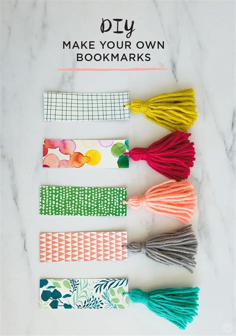 printable bookmarks make your own free download diy tassel bookmarks think make share