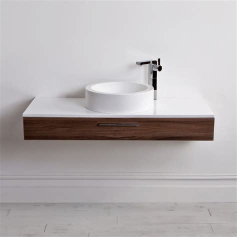 lusso edge slim drawer wall mounted bathroom vanity