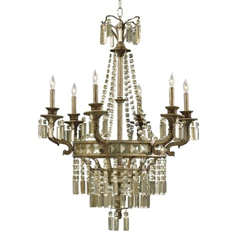 Crystal Chandelier On Sale Buckingham Victorian Champagne Crystal 6 Light Chandelier
